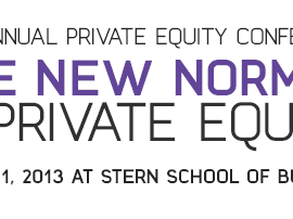 This Friday at NYU-Annual Stern Private Equity Conference