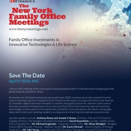 April 5 NYC: Family Office Investment Conference on Tech/Life Sciences Companies