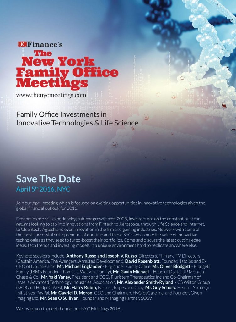 April 5 NYC: Family Office Investment Conference on Tech