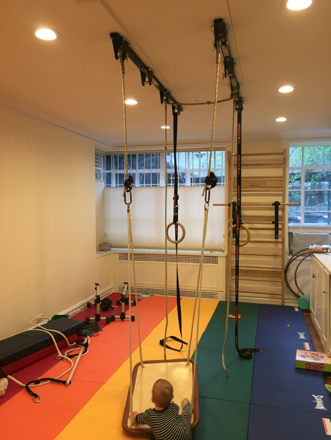 Multi purpose workout room playroom for crossfit parkour
