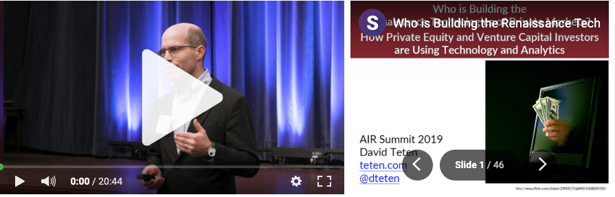 David Teten AIR Summit Keynote